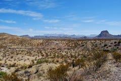 Parque nacional de curvatura grande, Texas ocidental. Fotos de Stock Royalty Free