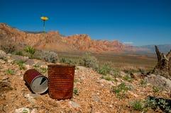 Parque nacional de Death Valley del barranco rojo Foto de archivo