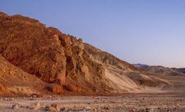 Parque nacional de Death Valley después de la puesta del sol - hermosa vista por la tarde Imagen de archivo