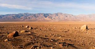 Parque nacional de Death Valley de las montañas de la gama de Panamint California Fotos de archivo libres de regalías