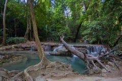 Parque nacional de Erawan, cascada en Tailandia Fotografía de archivo