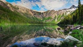 Parque nacional de geleira foto de stock