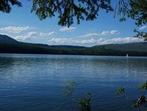 Parque nacional de geleira, lago McDonald imagens de stock royalty free