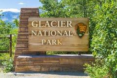 Parque nacional de geleira, montana, EUA 7-22-17: paridade do nacional da geleira foto de stock