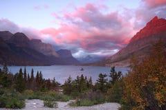 Parque nacional de glaciar Imagen de archivo libre de regalías