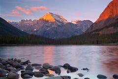 Parque nacional de glaciar imagen de archivo