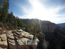 Parque nacional de Grand Canyon que camina la opinión del norte 2 del borde Imagenes de archivo