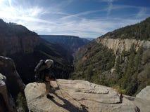 Parque nacional de Grand Canyon que camina la opinión del norte 4 del borde Foto de archivo