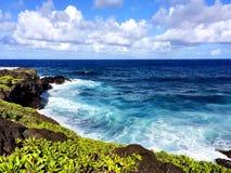 Parque nacional de Haleakala do litoral de Maui imagem de stock