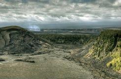 Parque nacional de Havaí Vulcano Fotos de Stock Royalty Free
