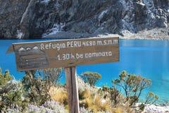 Parque nacional de Huascaran, Peru imagem de stock