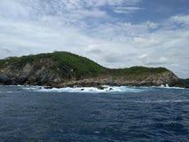 Parque nacional de Huatulco e o Oceano Pacífico imagens de stock royalty free
