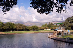 Parque nacional de Hurshat Tal en el Galilea Israel imágenes de archivo libres de regalías