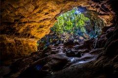 Parque nacional de Ibitipoca en la cueva del Brasil con la luz corta fotos de archivo libres de regalías