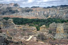 Parque nacional de Isalo, Madagascar fotografia de stock