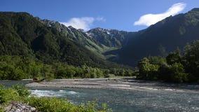 Parque nacional de Kamikochi en la estación de verano metrajes