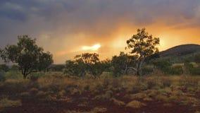 Parque nacional de Karijini, Austrália Ocidental Imagens de Stock Royalty Free