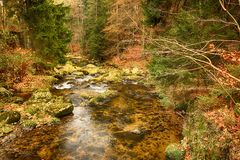Parque nacional de Karkonoski, Szklarska Poreba, Polônia fotos de stock