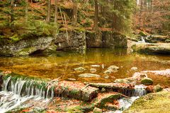 Parque nacional de Karkonoski, Szklarska Poreba, Polônia imagem de stock