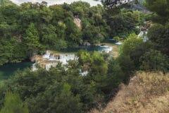Parque nacional de Krka - buk de Skradinski de la cascada foto de archivo