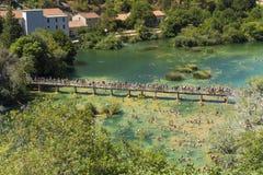 Parque nacional de Krka, Croacia, el 14 de agosto de 2017 Imágenes de archivo libres de regalías