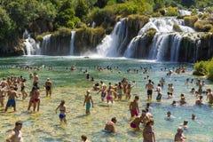 Parque nacional de Krka, Croacia, el 14 de agosto de 2017 Foto de archivo libre de regalías