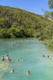 Parque nacional de Krka, Croacia, el 14 de agosto de 2017 Fotos de archivo