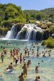 Parque nacional de Krka, Croacia, el 14 de agosto de 2017 Imagen de archivo libre de regalías