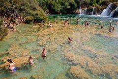 Parque nacional de Krka en Croacia Imagen de archivo libre de regalías
