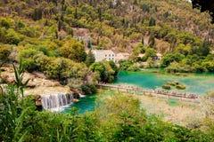 Parque nacional de Krka en Croacia Foto de archivo