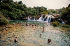 Parque nacional de Krka en Croacia Imagen de archivo