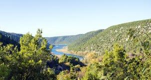 Parque nacional de Krka - panorama Foto de Stock Royalty Free