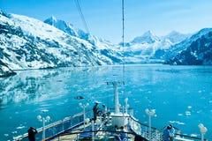 Parque nacional de la bahía de glaciar en Alaska Foto de archivo libre de regalías