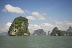 Parque nacional de la bahía de Phang Nga en Tailandia Imagen de archivo