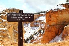 Parque nacional de la barranca de Bryce en Utah Foto de archivo