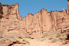 Parque nacional de la barranca de Talampaya, la Argentina. imagen de archivo