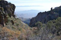 Parque nacional de la curva grande, rastro externo del lazo de la montaña fotos de archivo
