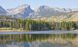 Parque nacional de la montaña rocosa Fotos de archivo libres de regalías