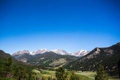 Parque nacional de la montaña rocosa Fotografía de archivo