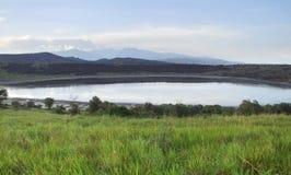 Parque nacional de la reina Elizabeth en África Imagenes de archivo