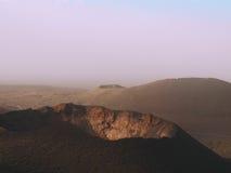 Parque nacional de Lanzarote Timanfaya das Ilhas Canárias foto de stock