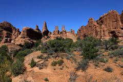 Parque nacional de los arcos Imagen de archivo libre de regalías