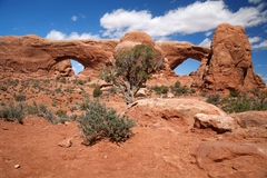 Parque nacional de los arcos cerca de Moab, los E.E.U.U. Foto de archivo libre de regalías