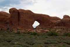 Parque nacional de los arcos cerca de Moab, Utah fotografía de archivo libre de regalías