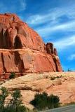 Parque nacional de los arcos de las formaciones de la piedra arenisca Foto de archivo libre de regalías