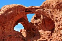 Parque nacional de los arcos - el arco doble Imagenes de archivo