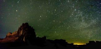 Parque nacional de los arcos en la noche Foto de archivo