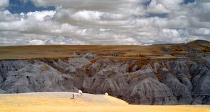 Parque nacional de los Badlands, infrarrojo Dakota del Sur imágenes de archivo libres de regalías