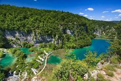 Parque nacional de los lagos Plitvice Foto de archivo