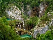 Parque nacional de los lagos Plitvice en Croatia. Imagen de archivo libre de regalías